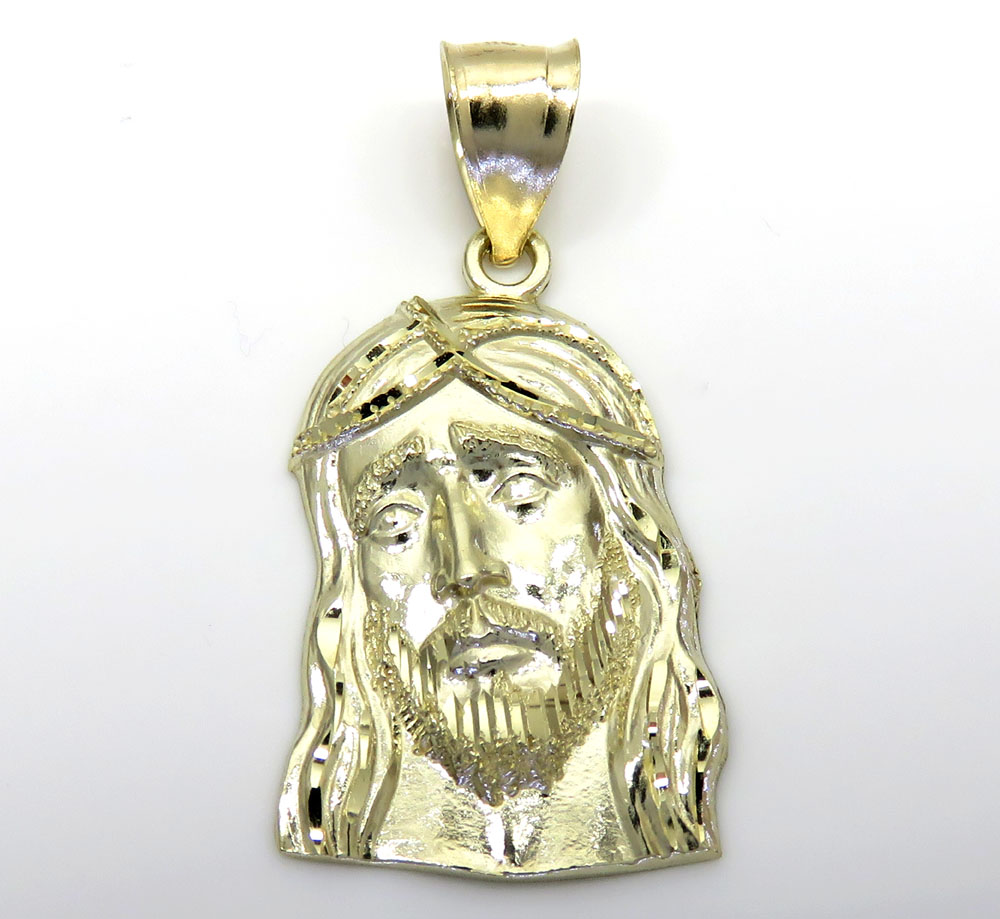 products pendant jewelry plug piece plated necklace the gold head jesus