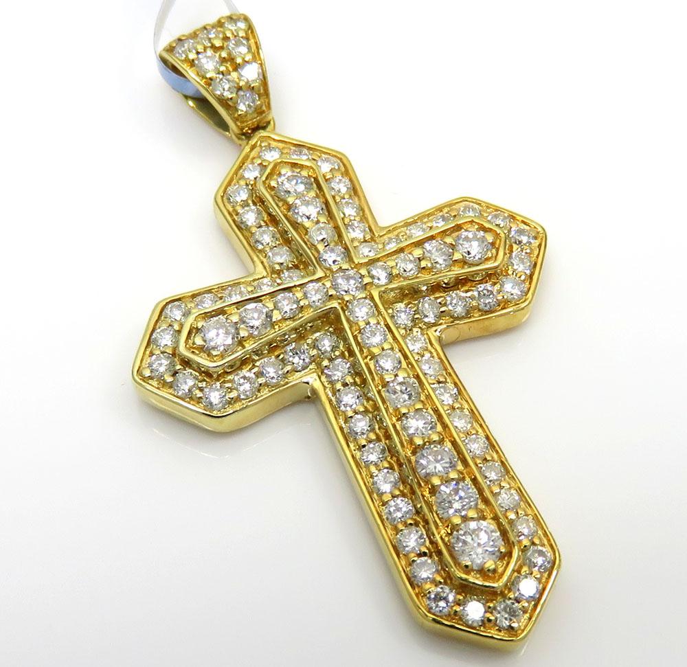 14k yellow or white gold diamond sword cross 0.85ct
