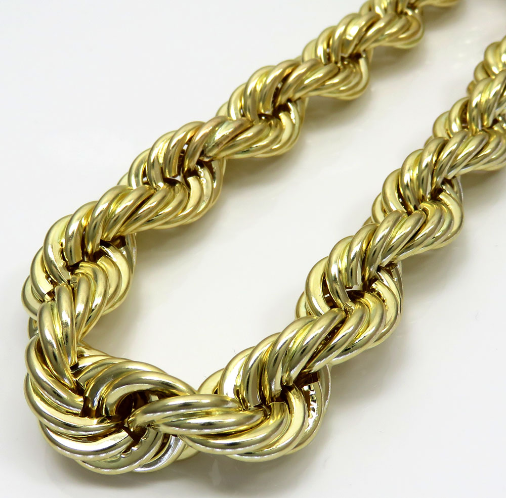chains gold mariner inch solid ladies link chain yellow necklace