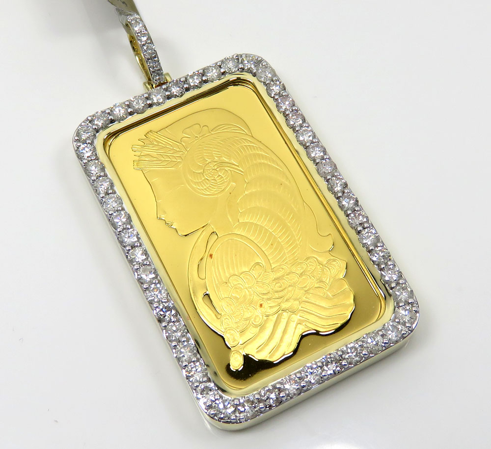 24k gold large lady fortuna diamond pendant 359ct mozeypictures Gallery