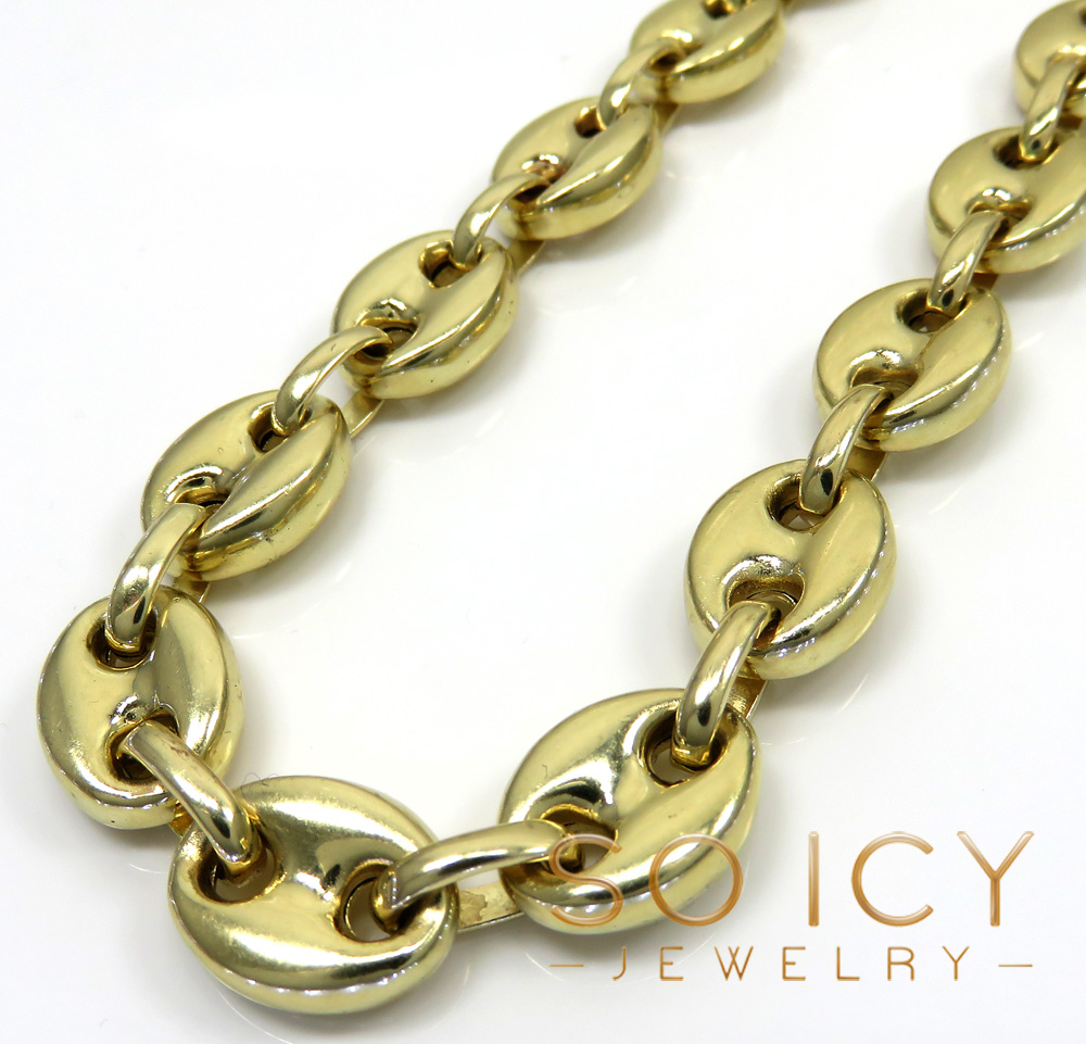 Gucci Link Chain >> 14k Yellow Gold Large Gucci Link Chain 26 Inch 11mm