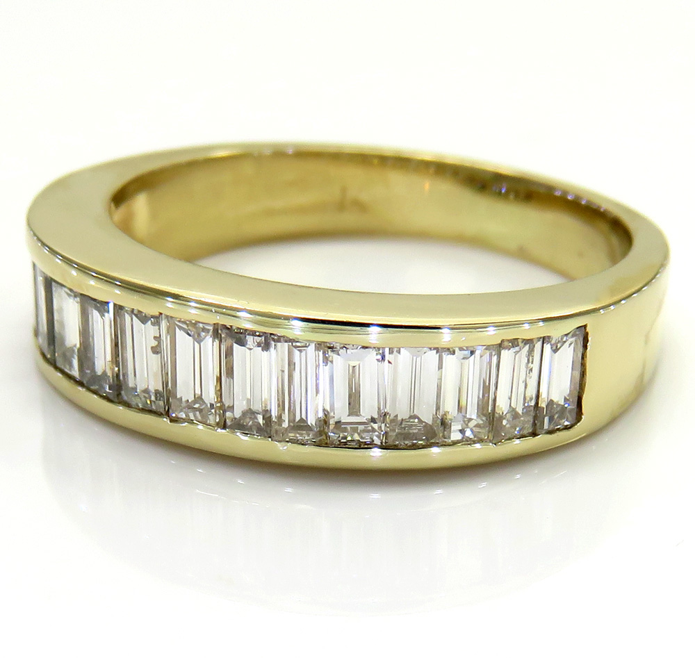 14K Yellow Gold Baguette Wedding Band Ring 1.00CT