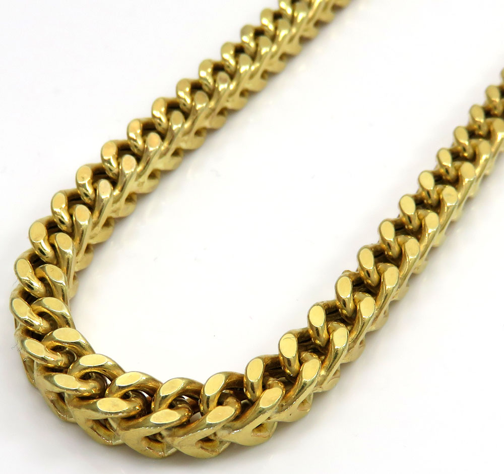 925 yellow sterling silver thick franco link chain 26 inch 5mm