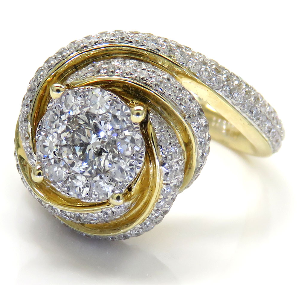 14k yellow gold coil diamond engagement ring 1.50ct