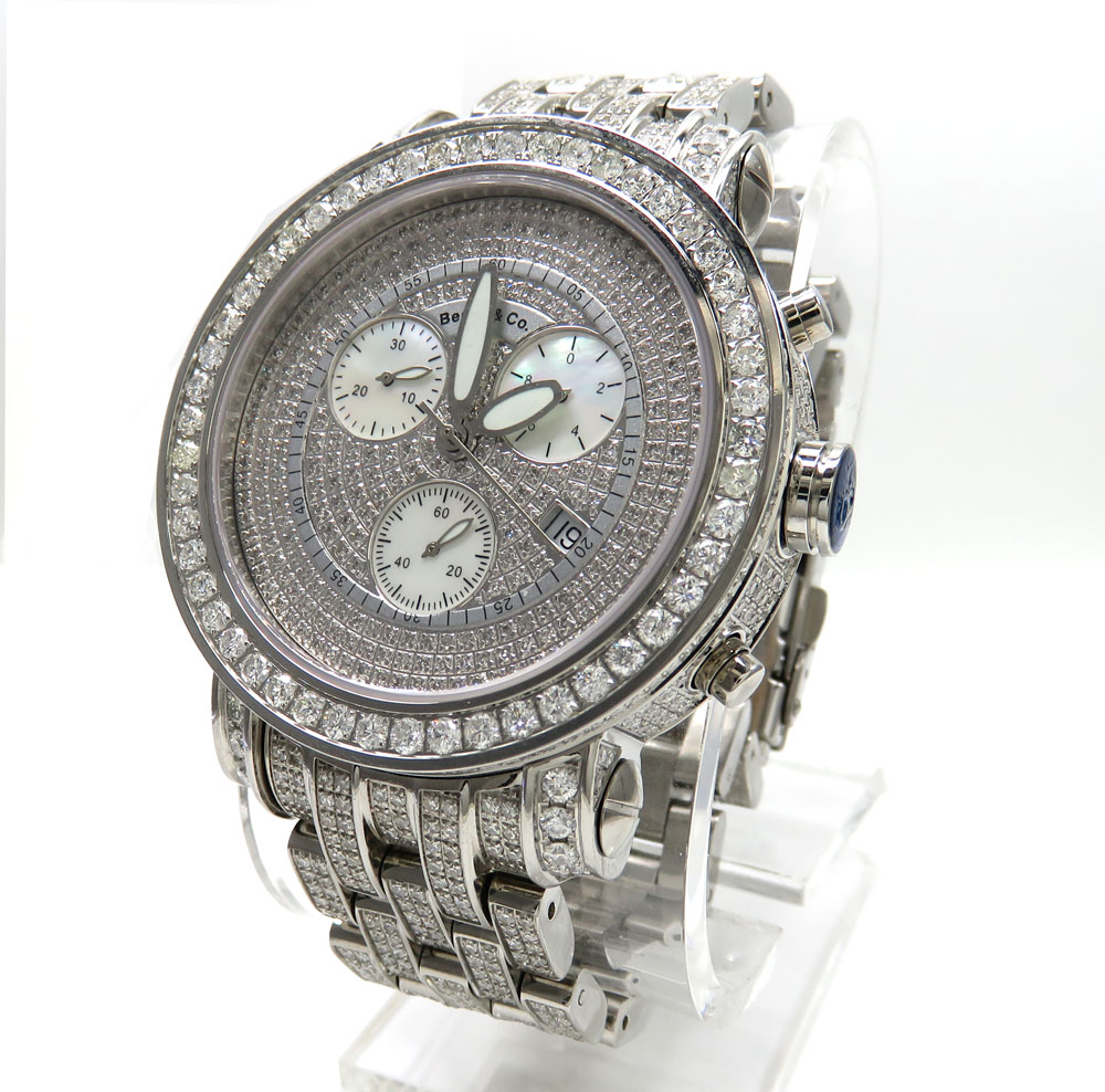 Mens Fully Iced Out Benny & Co. Diamond Watch 16.50CT