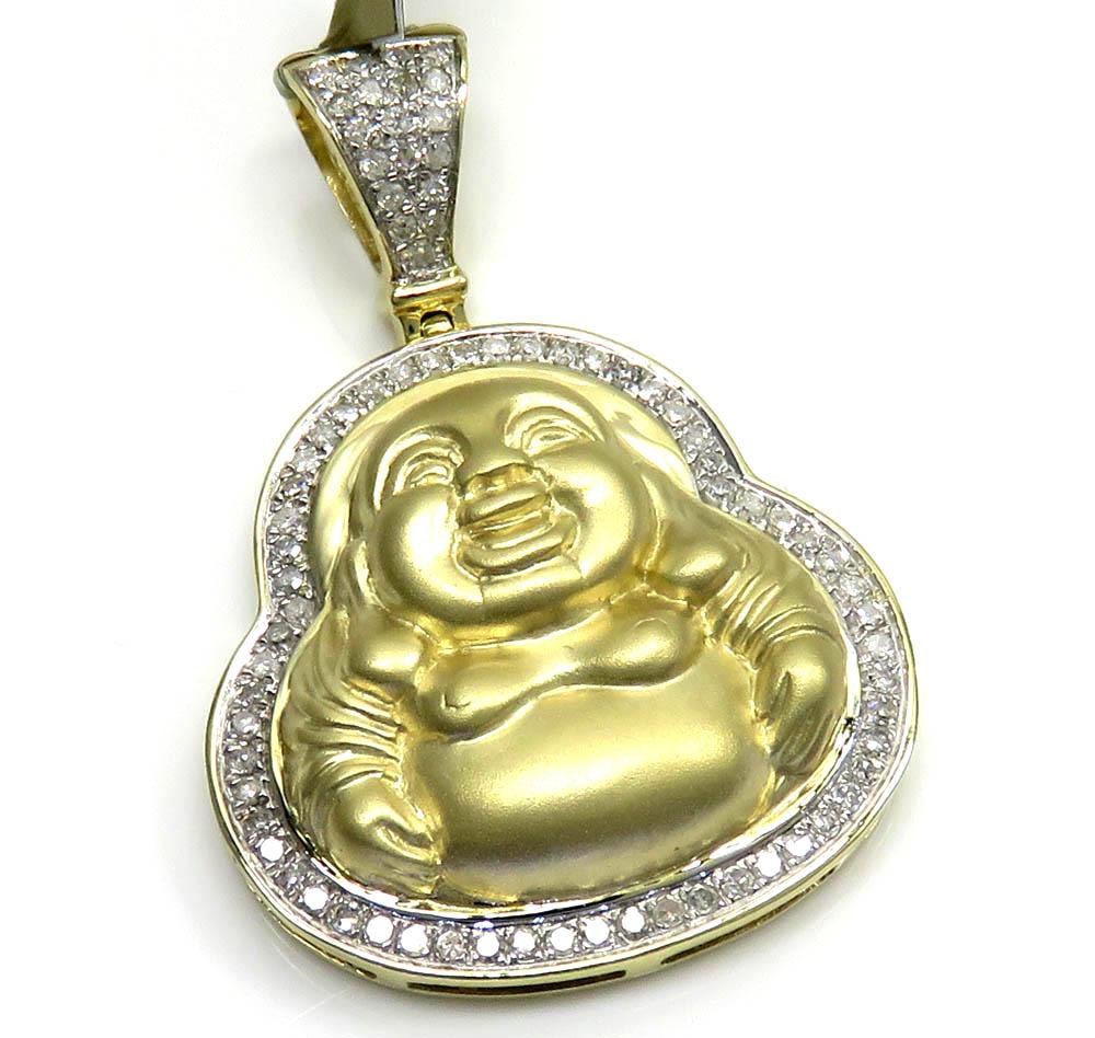 10k yellow gold diamond fat buddha 0.31ct