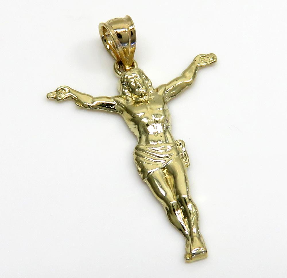 10k yellow gold small hanging jesus charm