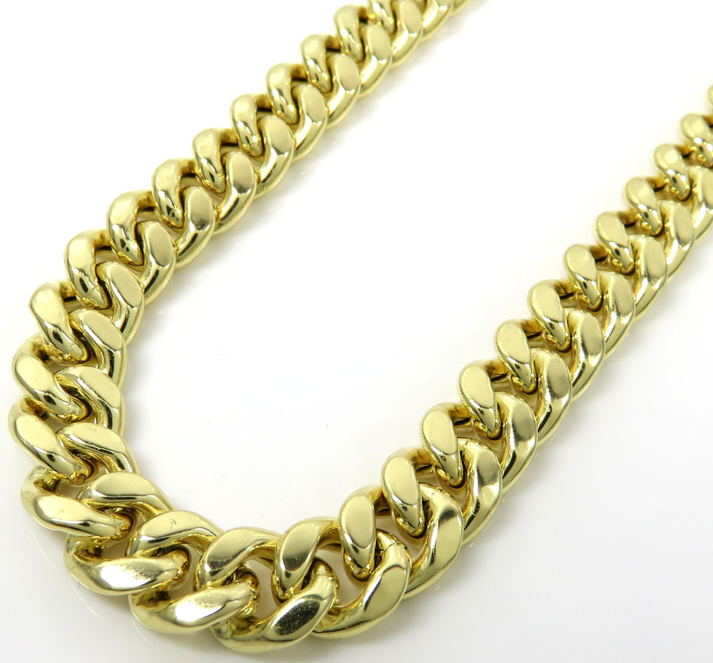 "New 14K Solid Yellow Gold 3.2MM Cuban Link Chain Necklace 16/"" 18/' 20/' 22/' 24/"""