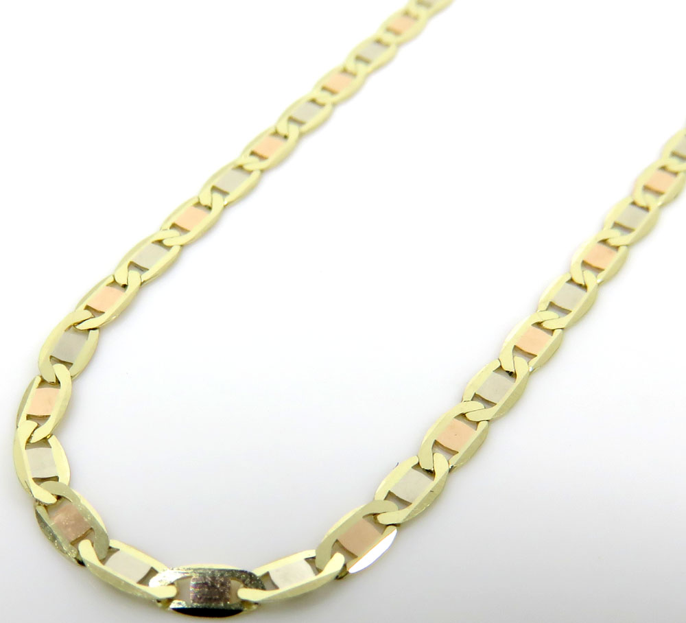 10k yellow gold solid tight mariner link chain 16-24 inch 1.8mm