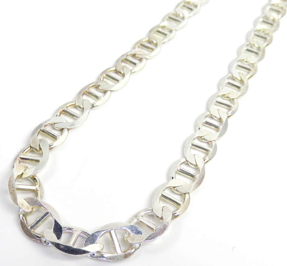 925 sterling silver anchor link chain 30 inch 10mm